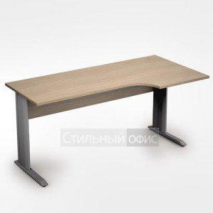 Стол на металлических опорах криволинейный правый длинный