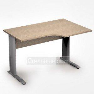 Стол на металлических опорах криволинейный правый короткий