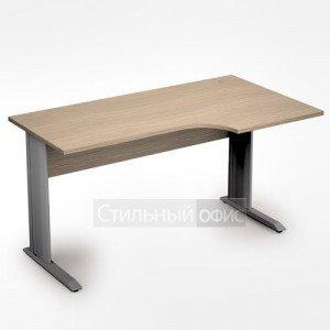 Стол на металлических опорах криволинейный правый