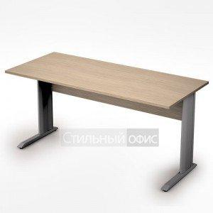 Стол на металлических опорах прямой длинный