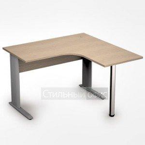 Стол на металлокаркасе криволинейный широкий правый короткий