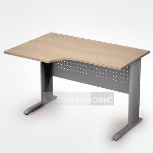 Стол на металлокаркасе криволинейный левый короткий