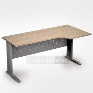Стол на металлокаркасе криволинейный правый длинный