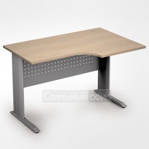 Стол на металлокаркасе криволинейный правый короткий