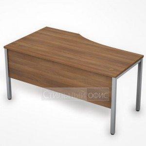 Стол эргономичный на металлокаркасе с экраном правый 6МД.021 Алсав