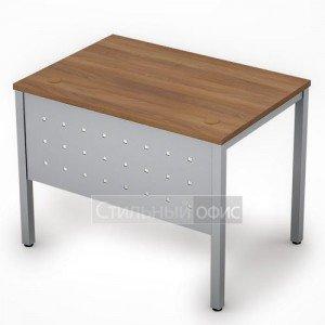 Стол на металлокаркасе с металлическим экраном короткий 6МК.007 Алсав