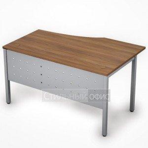 Стол на металлокаркасе с металлическим экраном левый 6МК.022 Алсав