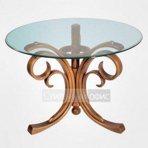 Журнальный столик круглый со стеклом