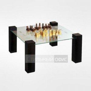 Столик журнальный квадратный с шахматным полем