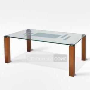 Стол журнальный стеклянный прямугольный в офис