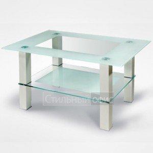 Столик журнальный прямоугольный стеклянный