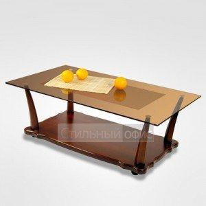 Журнальный столик прямоугольный на колесиках в офис