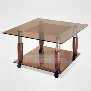 Журнальный столик квадратный на колесиках в офис