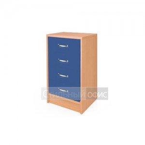 Тумба приставная с синими ящиками