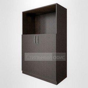 Шкаф офисный закрытый с открытой нишей средний широкий для персонала В.СТ – 2.1