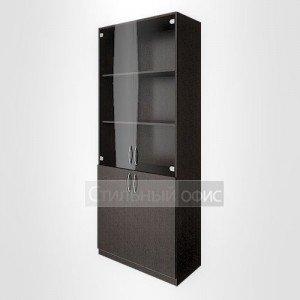 Шкаф с низкими дверьми и стеклом широкий для персонала В.СТ – 1.2