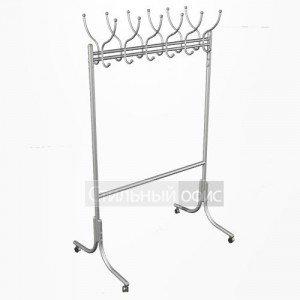 Вешалка для одежды напольная на колесиках алюминий