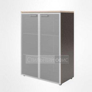 Шкаф со стеклом средний широкий офисный для сотрудников