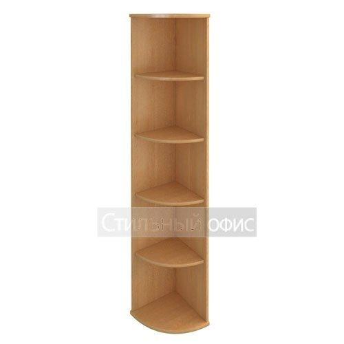 стеллаж высокий угловой деревянный в офис